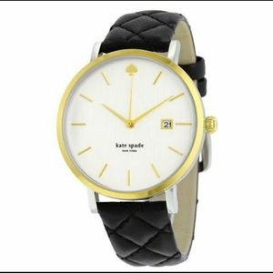 Kate Spade Metro Grand Quilted Leather Watch